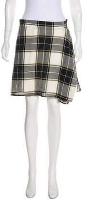 Public School Plaid Mini Skirt