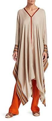 Loro Piana Women's Stripe Silk & Cashmere Poncho