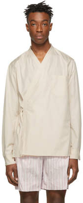3.1 Phillip Lim Beige Kimono Style Shirt