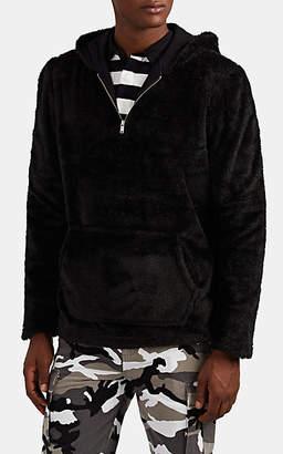 Ovadia & Sons Men's Coze Fleece Half-Zip Hoodie - Black