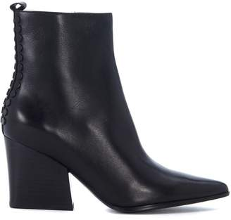 KENDALL + KYLIE Kendall+kylie Felix Black Leather Anklet Boots With Studs