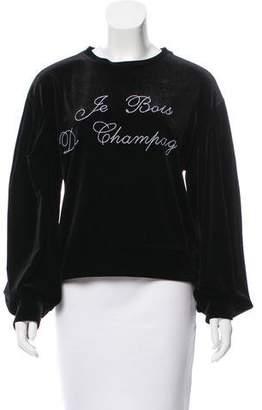 MISA Los Angeles Embroidered Velvet Top