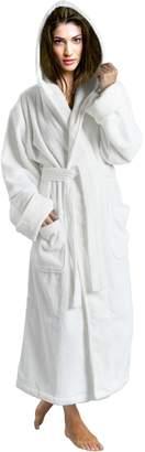Skylinewears Women's 100% Terry Cotton Bathrobe Toweling Hooded Robe L