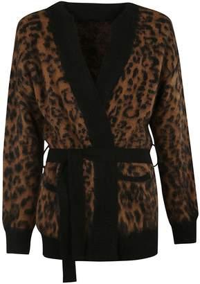 Laneus Leopard Knit Cardigan