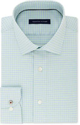 Tommy Hilfiger Men's Slim-Fit Non-Iron Performance Stretch Check Dress Shirt
