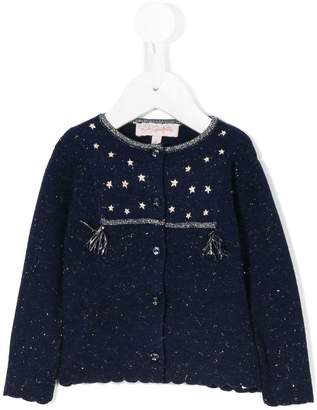 Lili Gaufrette e,embroidered cardigan