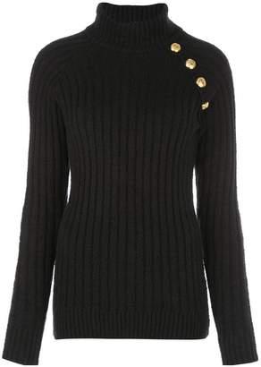 Balmain ribbed turtleneck sweater