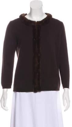 Prada Cashmere-Blend Long Sleeve Cardigan