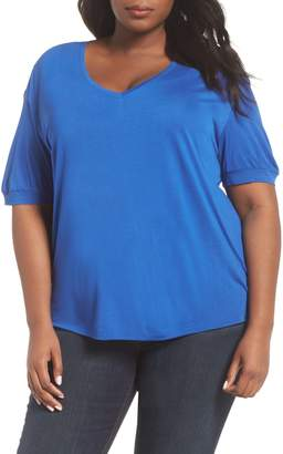 Sejour V-Neck Puff Sleeve Tee