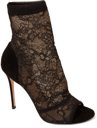 Gianvito Rossi Missy Lace Open Toe Booties