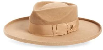 Gladys Tamez Arch Fur Felt Wide Brim Hat