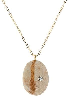 Womens White Gold Pear-Shaped-Pendant Necklace CVC ZnBag