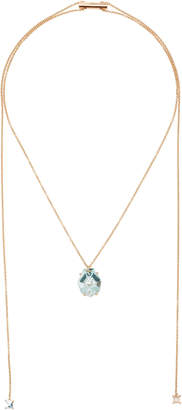 MISUI Klar Adjustable Aquamarine Pendant