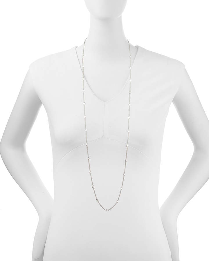 """Roberto Coin 42"""" White Gold Diamond Station Necklace, 4.99ct"""