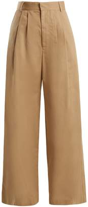 Raey Wide-leg cotton chino trousers
