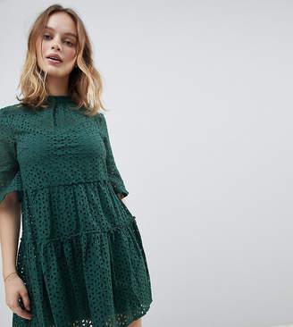 New Look Petite Cutwork Broderie Smock Dress
