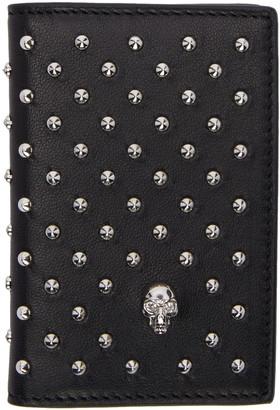Alexander McQueen Black Studded Wallet $275 thestylecure.com