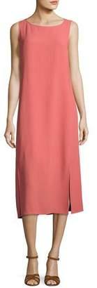 Eileen Fisher Silk Georgette Crepe Midi Tank Dress, Plus Size