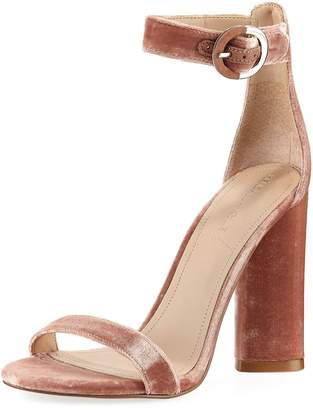 KENDALL + KYLIE Giselle Velvet High City Sandal, Blush