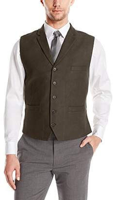 Greg Norman Men's Vest in Solids with Lapels-Adjustable Back Buckle with Fashion Lining
