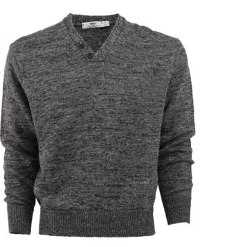INIS MEAIN Mixed Linen Henley Sweater
