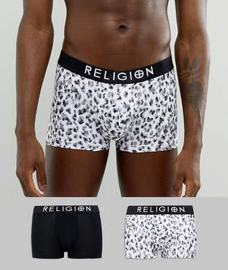 Religion 2 Pack Trunks With Cheetah Print