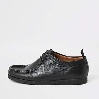 River Island Black leather lace up shoes