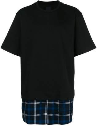 Juun.J contrast-hem T-shirt