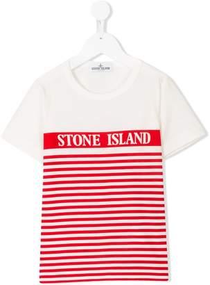 Stone Island Junior striped print T-shirt