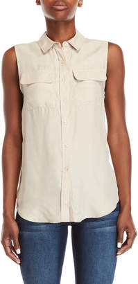 Romeo & Juliet Couture Romeo + Juliet Couture Sleeveless Button-Down Shirt