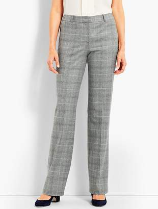 Talbots Luxe Glen Plaid Trouser