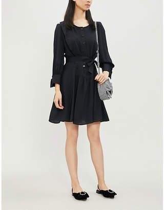 Claudie Pierlot Rihane waist-tie crepe dress