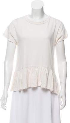 The Great Short Sleeve Distressed Top