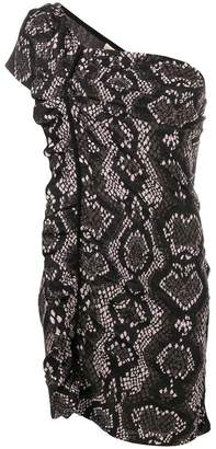 Circus Hotel snake print asymmetrical dress