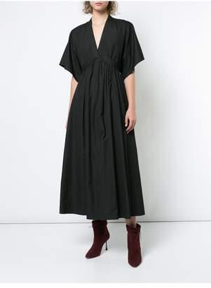 ADAM by Adam Lippes Cotton Poplin V-Neck Dress