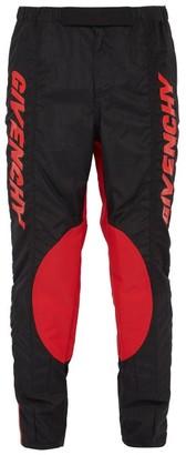 Givenchy Logo Biker Pants - Mens - Black Red