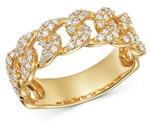 Moon & Meadow Diamond Chain Ring in 14K Yellow Gold, 0.51 ct. t.w. - 100% Exclusive
