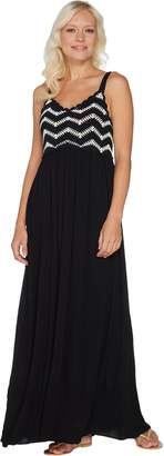 Du Jour Petite Sleeveless Crochet Bodice Maxi Dress