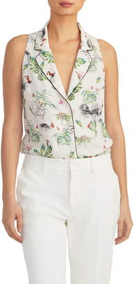 Rachel Roy Collection Sleeveless Print Blouse