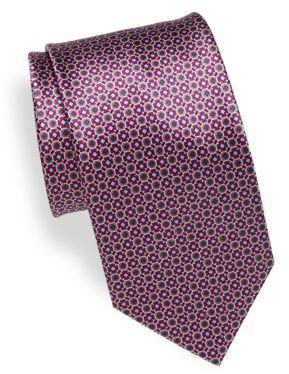 BrioniGeometric Silk Tie
