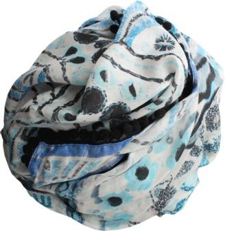 ATHENA PROCOPIOU Indigo Jewels Scarf $405 thestylecure.com