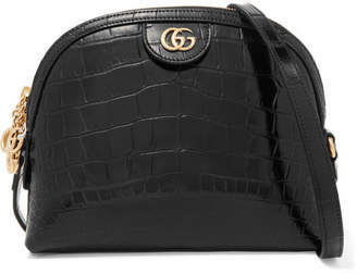 Gucci Ophidia Alligator Shoulder Bag - Black