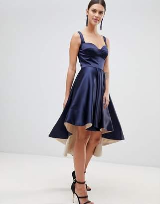 Forever Unique Satin Hi-Low Dress