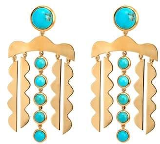 Asha Mustique Chandelier Drop Earrings