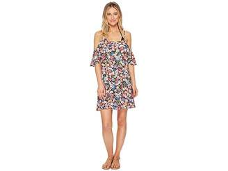 Lucky Brand Late Bloomer Cold Shoulder Ruffle Dress Cover-Up