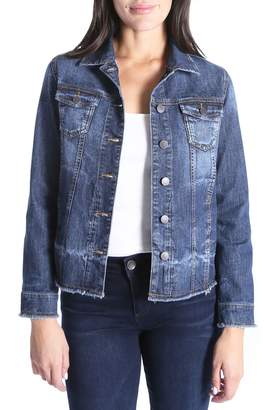 KUT from the Kloth KUT From the Koth Unhemmed Denim Jacket