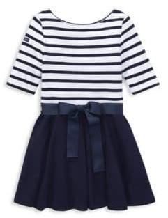 Ralph Lauren Little Girl's Stripe Fit-&-Flare Dress
