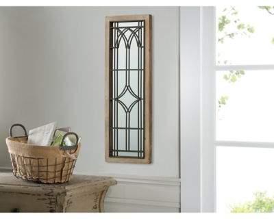 Art Wood/Metal Gated Window Mirror