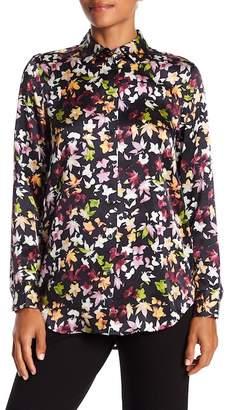 Equipment Essential Long Sleeve Floral Print Silk Blouse