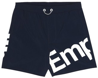 Emporio Armani Kids Logo swim trunks